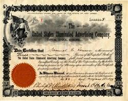 United Stated Illuminated Advertising Company - New Jersey 1899