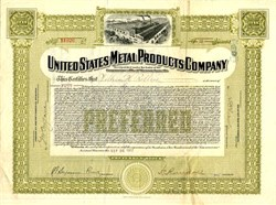 United States Metal Products Company - Massachusetts 1912