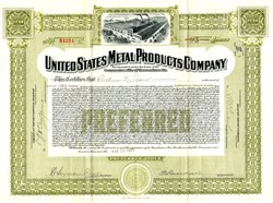 United States Metal Products Company - Massachusetts 1913