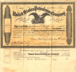 United States Petroleum Company - Venango County, Pennsylvania - Incorporated  in New York 1866
