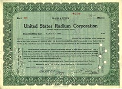 United States Radium Corporation - Delaware 1940