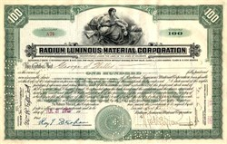 Radium Luminous Material Corporation signed by founder George Willis (Radium Girls Dial Painters) - 1919