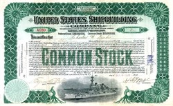 United States Shipbuilding Company - USS Oregon Battleship  Vignette (Company became Bethlehem Steel Corporation )  - New Jersey 1902