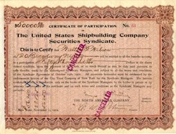 United States Shipbuilding Company Securities Syndicate - New York 1902