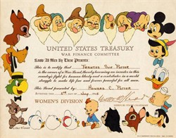 Disney United States Treasury War Finance Committee ( Women's Division) RARE - Missouri 1945