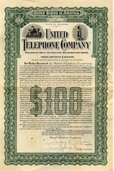 United Telephone Company - Delaware 1912