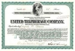 United Telpherage Company 1902 - New Jersey