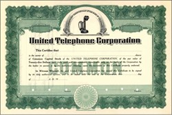 United Telephone Corporation - Early Telephone Vignette