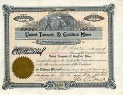 United Tonopah & Goldfield Mines - Nevada. Nye. Tonopah -1906