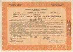 Union Traction Company of Philadelphia 1928