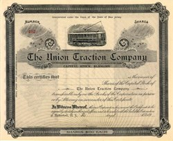 Union Traction Company - Rutherford, Bergen County - New Jersey 1890's