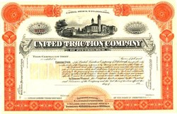 United Traction Company (Specimen)  - Pennsylvania 1890's