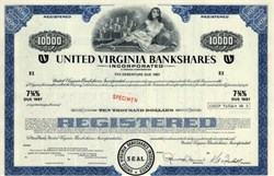 United Virginia Bankshares Incorporated (Became Crestar, Now Suntrust) - Virginia - 1972