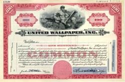United Wallpaper, Inc. - Delaware