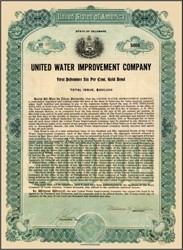 United Water Improvement Company 1909