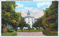 Ursline College Grounds, Santa Rosa, California Postcard
