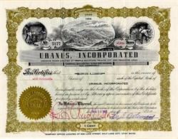 Uranus, Incorporated  (Uranium Mines) - Utah