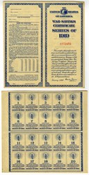 U.S.War Savings Certificate Booklet Series of 1919