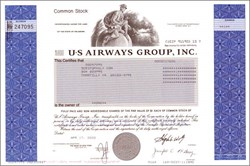 U.S. Airways Group, Inc - Futuristic Airplane in Vignette