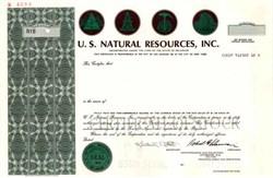 U.S. Natural Resources, Inc.