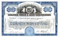 Utilities Power & Light Corporation 1937