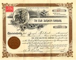 Utah Saltpetre Company - Utah 1899