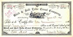 Utah & Salt Lake Canal Company - 1895