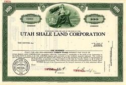Utah Shale Land Corporation - Utah 1968