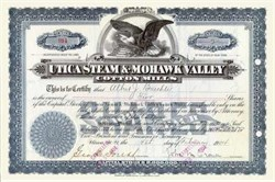 Utica Steam and Mohawk Valley Cotton Mills 1904