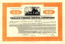 Valley Forge Hotel Company - Pennsylvania 1926