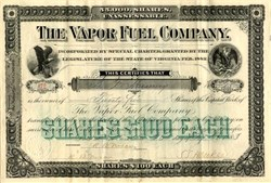 Vapor Fuel Company - Alexandria, Virginia 1883