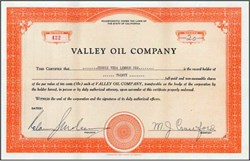 Valley Oil Company - California