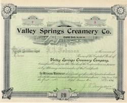 Valley Springs Creamery Company 1896