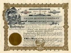 Valeo Mining Company  Wasatch County, Park City, Utah 1911