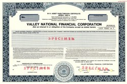 Valley National Financial Corporation (The Valley National Bank of Arizona) - Arizona