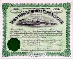 Vancouver B.C. Development Company Limited 1913