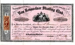 Van Rensselaer Skating Club - Albany, New York 1863