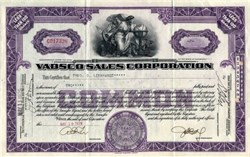 Vadsco Sales Corporation - Delaware 1929