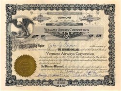 Vermont Airways Corporation - 1929 Newport, Vermont