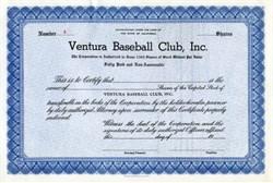Ventura Baseball Club, Inc - California