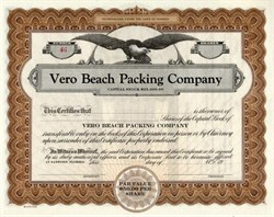 Vero Beach Packing Company - Sanford, Florida
