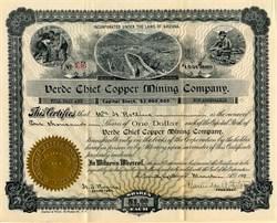 Verde Chief Copper Mining Company - Arizona 1901
