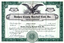Ventura County Baseball Club, Inc. (Ventura County Braves) - California 1950
