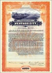 Ventnor City ( Atlantic City ) Boardwalk Along Beach Vignette 1930's