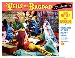 Veils of Bagdad Lobby Card starring Victor Mature and Mari Blanchard - 1953
