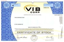 VIB Corp. - California ( Valley Independent Bank  )