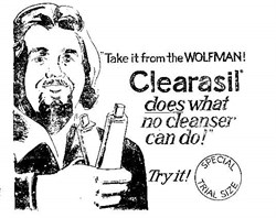 Wolfman Jack signed Contract promoting Clearasil Acne Ointment 1975