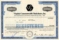 Virginia Commonwealth Bankshares, Inc - (Became Signet Banking Corporation then First Union)