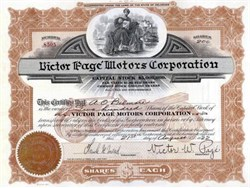 Victor Page Motors Corporation 1922 - Touring Car Underprint