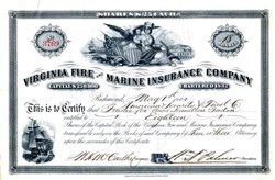Virginia Fire and Marine Insurance Company - Richmond, Virginia